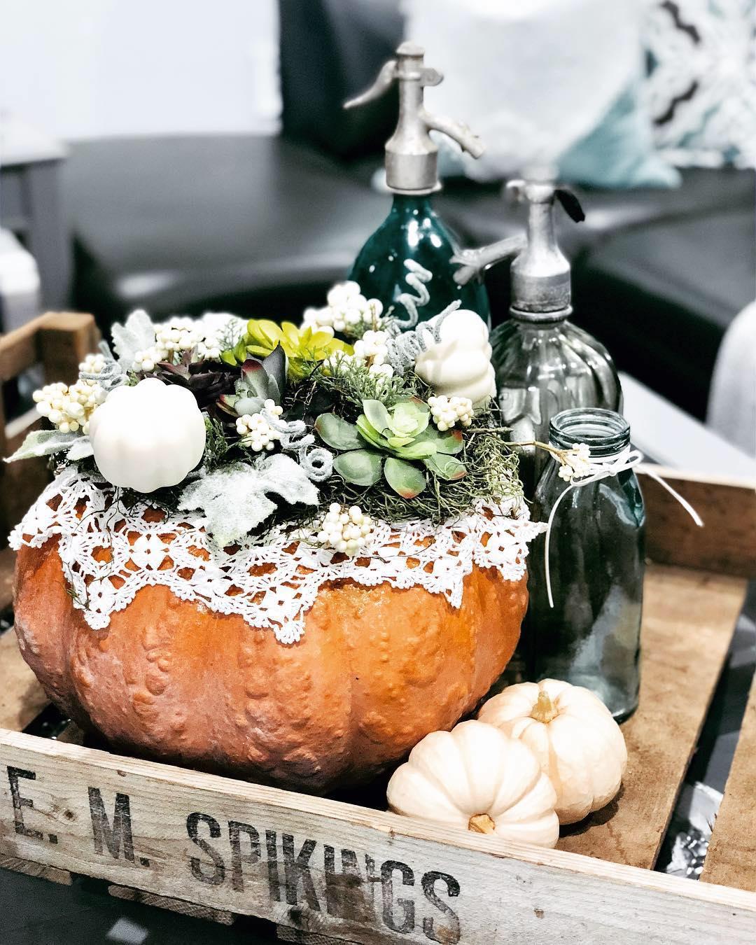 Fall Pumpkin Succulent Centerpiece Eye In The Detail By Jessie Ecker